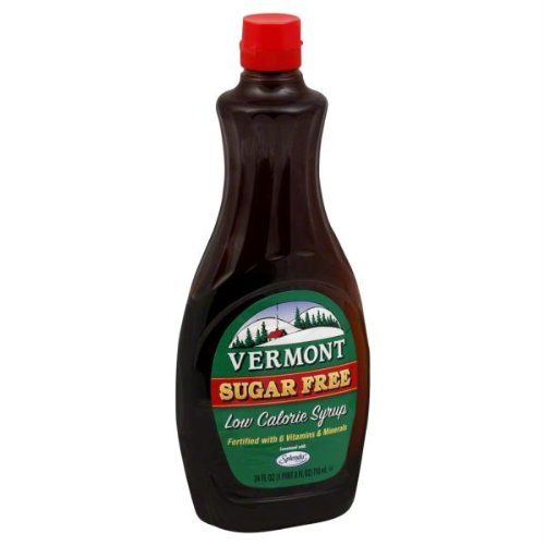 Vermont Sugar Free Maple Syrup - MAPLE GROVE SYRUP SF VERMONT PNCAKE, 24 OZ Pack of 6