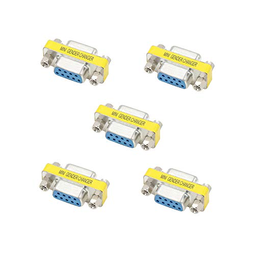 Elitee DB9 Female to Female Gender Changer Female Connector Adapter 5 PCS