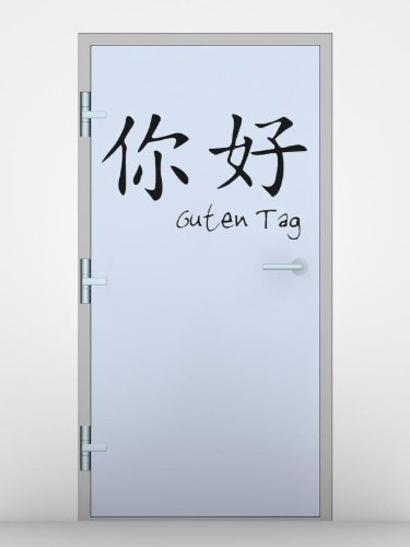 Bilderdepot24 Tatuajes de pared Simbolos chinos (Buenos días ...
