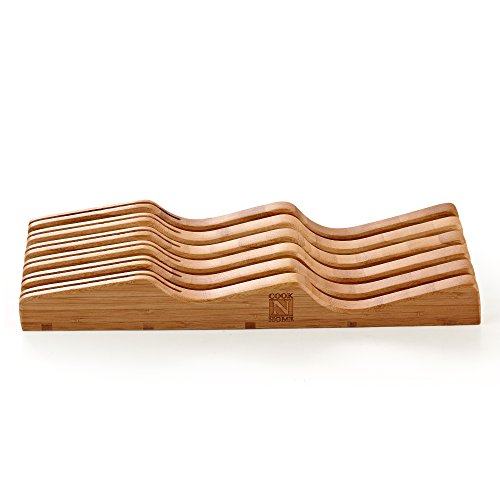 Cook N Home In-Drawer Bamboo Knife Storage Block, 11 Slot by Cook N Home (Image #6)
