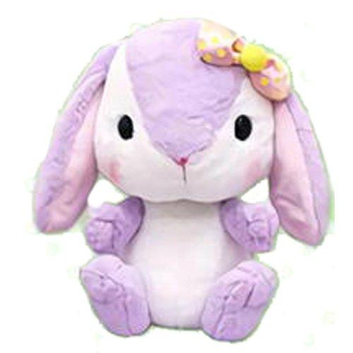 Heights Plush (AMUSE Bunny Plush Poteusa Loppy Colorful series BIG size - Sumire (Purple) - Rabbit plush 16.5