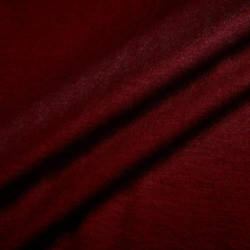 ZEFOTIM ✿ Fashion Casual Dress for Women Crew Neck Asymmetric Hem Plain Sleeveless Dresses(WineRed,X-Large) by ZEFOTIM (Image #3)