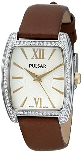 Pulsar Women's PH8097 Night Out Analog Display Japanese Quartz Brown Watch