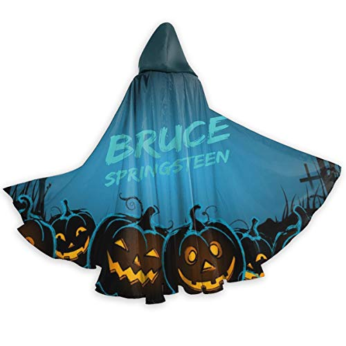 Bruce Springsteen Halloween (AgoodShop Unisex Full Length Hooded Cape Bruce Springsteen E Street Band Halloween Adult)