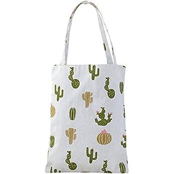 Caixia Womens Cactus Canvas Tote Shopping Bag