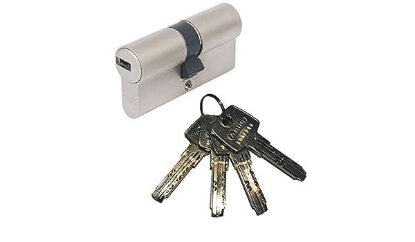 Abus EC550 - Bombín cilíndrico de doble embrague (40 x 50 mm, incluye 4 llaves): Amazon.es: Bricolaje y herramientas