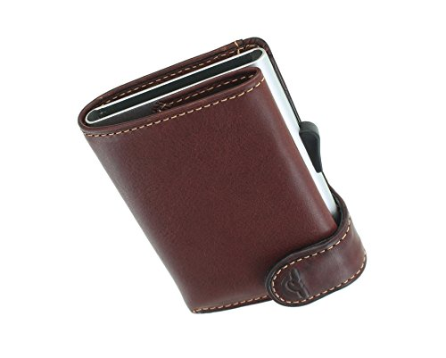 Protected Tony 3681 with Card Wallet Sliding Brown Card Perotti RFID 1 Mechanism Brown WqOxAw1