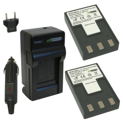 Wasabi Power Battery and Charger Kit for Canon NB-1L, NB-...