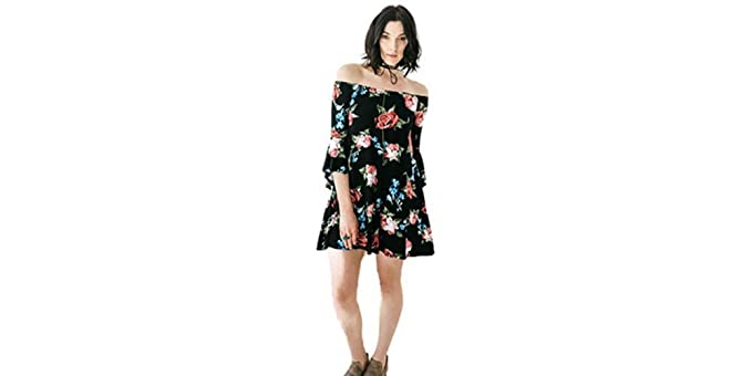 2c87bffb507f Bella Floral Off Shoulder Dress at Amazon Women s Clothing store
