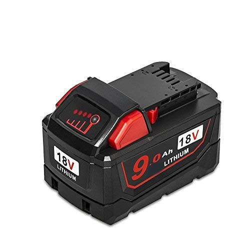 Surepp 18V 9.0Ah Lithium Battery Compatible with Milwaukee 48-11-1890 48-11-1820 48-11-1860 48-11-10(1pack) -  MWQ-1890