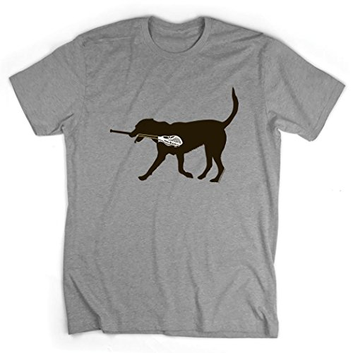 Max The LAX Dog T-Shirt | Lax Tees by ChalkTalk SPORTS | Sport Gray | Youth Large - Lacrosse Youth Tshirt