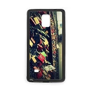 Samsung Galaxy Note 4 Cell Phone Case Black_At Koln Love Bridge Sjnph
