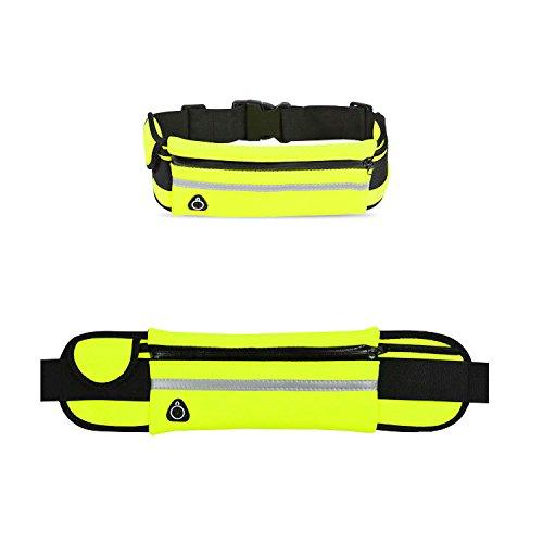 Funtechhub Adjustable 28-43 Waist Belt Organizer, Weather Sweat Resistant (Neon Green) (Green)