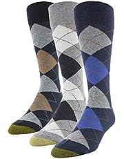 Gold Toe mens - Carlyle Argyle Crew Socks, 3 Pairs Dress Sock - multi