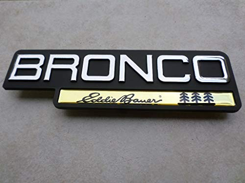 92-96 NEW Ford Bronco Eddie Bauer Side Door Fender F4TB-16B114-KA Emblem Nameplate Decorative Ornament Logo Decal