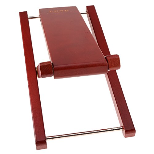 MonkeyJack Guitar Player HD Foot Stool Rest Stand Adjustable 4.5-7.5'' Burgundy by MonkeyJack