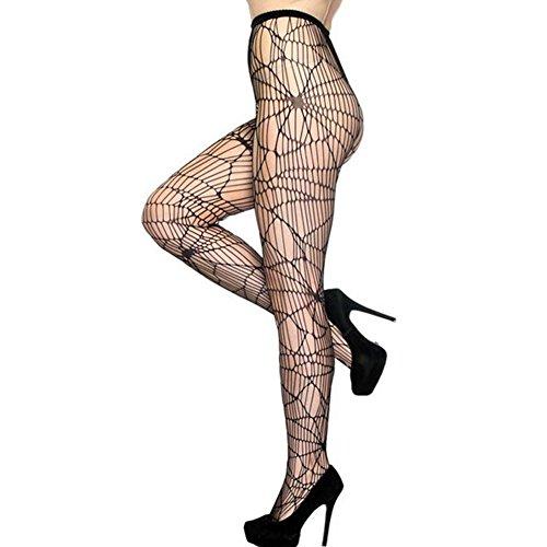 XiaoGao_ culottes noires bas résille design allégé