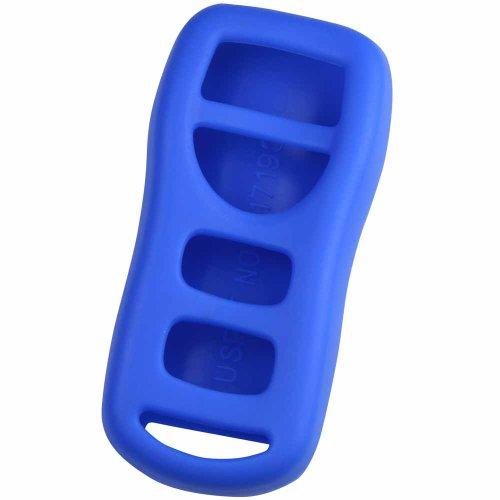 KeyGuardz Blue Rubber Keyless Entry Remote Key Fob Skin Cover Protector (Nissan Altima Computer)