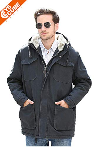df262c657 YsCube Winter Flannel Lined Sandstone Coat for Men, Durable and Warm Choice  for Hard Working Men: Amazon.co.uk: Clothing