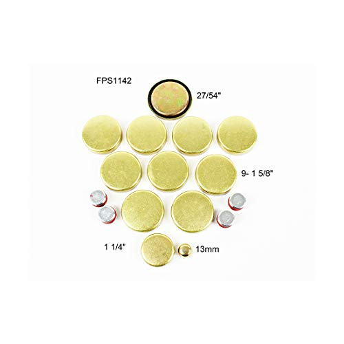 DNJ FPS1142 Brass Freeze Plug Set for 1976-2003 / Chrysler, Dodge, Jeep, Plymouth / 5.2L, 5.9L / V8 / 16V / OHV / 318cid, 360cid / [Magnum HD, Magnum]Note Brass Freeze Plugs