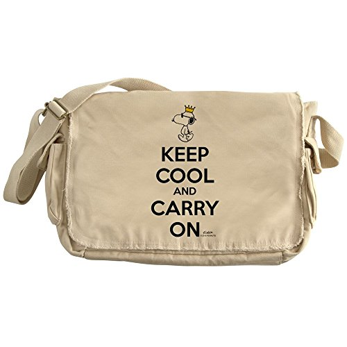 CafePress - Snoopy - Keep Cool - Unique Messenger Bag, Canvas Courier Bag by CafePress