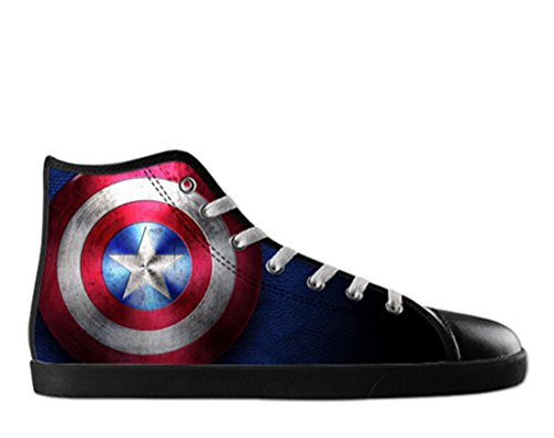 Hommes Toile Haut Haut Chaussures Capitaine Amérique Thème Capitaine Toile Shoes01