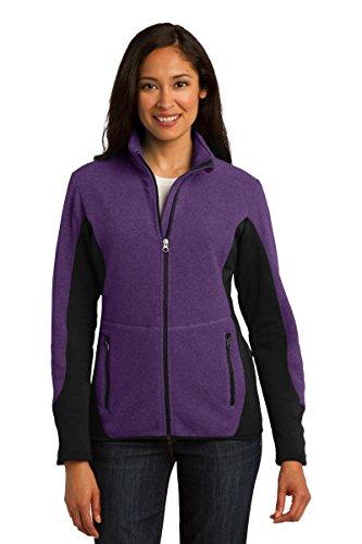 Port Authority Ladies R-Tek Pro Fleece Full-Zip Jacket 4XL Purple Heather/ Black (Authority Ladies R-tek Fleece Port)