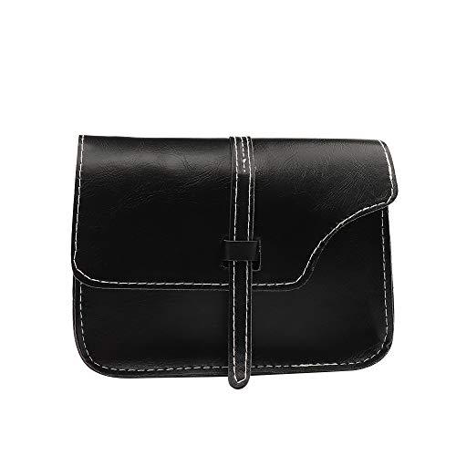 Shoulder Bag,Robemon Handbag Crossbody Messenger Satchel Fashion Casual Women Trend Belt Pouch Small Square Black