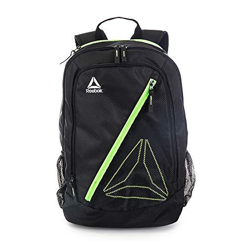 Reebok Gym Backpack, Workout Backpack (Black/Green)