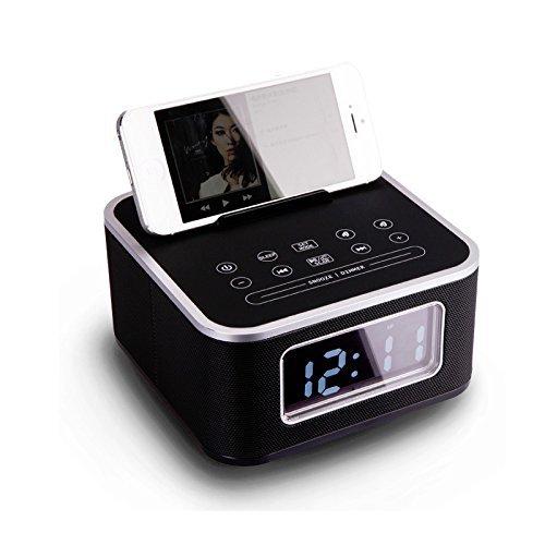 IRISTIME Homtime S1-bt bluetooth speaker bedside alarm clock mobile phone usb charge base hands free bluetooth mini audio Black(S1-BT)