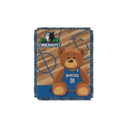 The Northwest Company Officially Licensed NBA Minnesota Timberwolves Half Court Woven Jacquard Baby Throw Blanket, 36