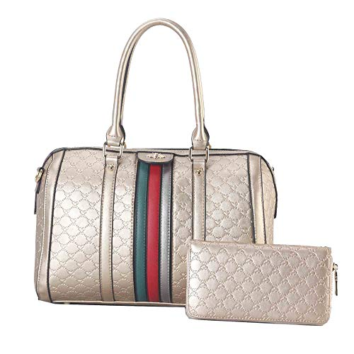(Leather Handbag Tote Bag Top Handle Purse Satchel Hobo Bag 2 Handbags Set For Women RGD)