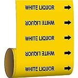 Brady Pipe Marker White Liquor Yellow