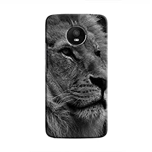 Cover It Up - The Lion BW Moto E4 Plus Hard case