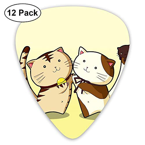 12-Pack Fashion Classic Electric Guitar Picks Plectrums Cat