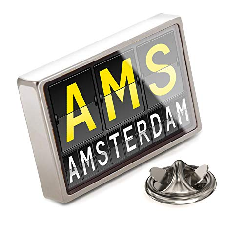 NEONBLOND Lapel Pin AMS Airport Code for -