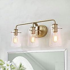 KSANA Gold Bathroom Light Fixtures, 3 Li...