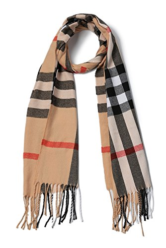 Winter Men's Plaid - Scarves Classic Cashmere Feel Buffalo Check Scarf