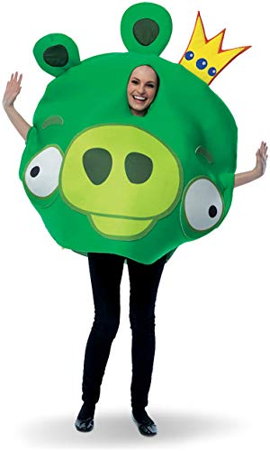 Angry Birds Halloween Pig (Paper Magic Unisex - Adult Angry Birds King Pig Costume, Green, One)