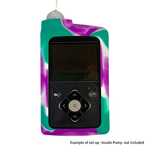 Gel Skin for Medtronic™ Insulin Pump: Soft Silicone Cover is Compatible for use with The MiniMed™ 630G and MiniMed™ 670G Insulin Pumps (Purple/Teal)