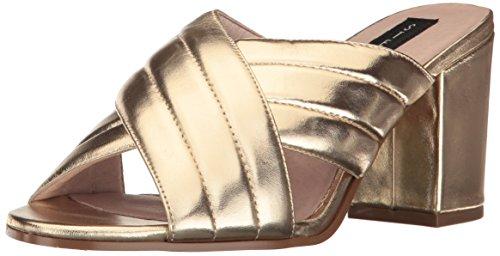 STEVEN by Steve Madden Women's Zada Mule - Gold Leather -...