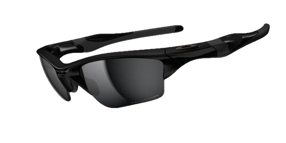 Oakley Half Jacket 2.0 Sunglasses (Black Frame Polarized Solid Black Lens) by Oakley