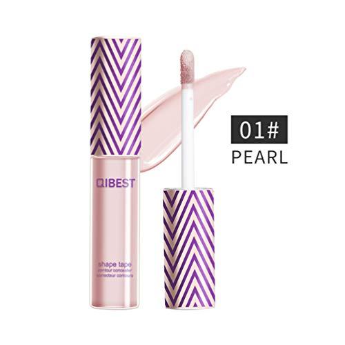 QIBEST Professional Makeup Contour Concealer, Full Wear Concealer, Eyeshadow Primer, Full Coverage, PEARL (1)