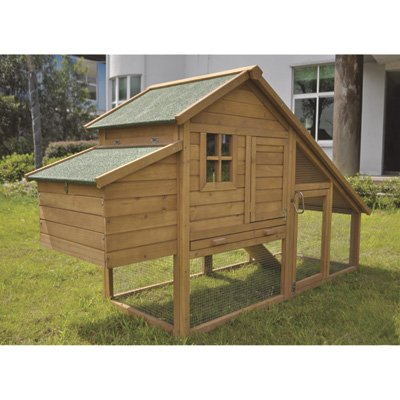 Wooden Chicken Coop With Ramp   6 To 8 Hens