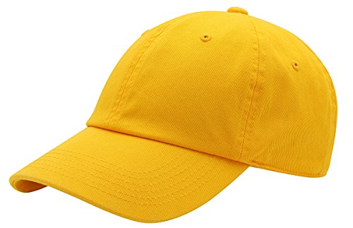 - AZTRONA Baseball Cap for Men Women - 100% Cotton Classic Dad Hat,GLD Gold