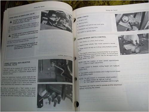 john deere 855 owners manual