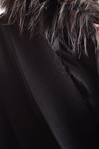 Lana MCBI113278O Mujer Franchi Elisabetta Abrigo Negro I0zq7w