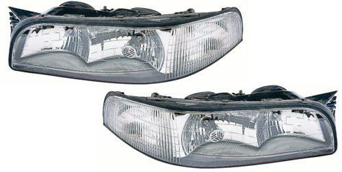 Buick LeSabre Replacement Headlight Assembly (with Cornering Light) - 1-Pair - Buick Lesabre Headlight Assembly