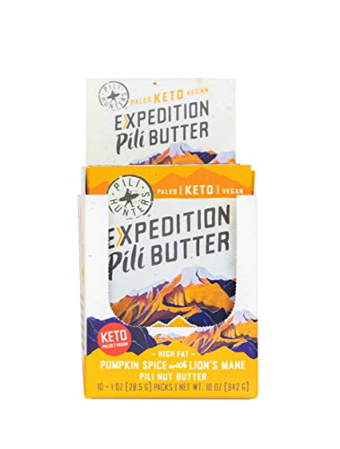 Pili Hunters Expedition Pili Butter Pumpkin Spice, Keto, Paleo, Vegan, Low Carb, No Sugar Added, 1 oz. Packets - 10-Pack