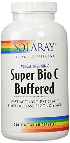 Solaray Super Bio C - Buffered 1000 mg 250 Vegetable (Buffered Vitamin C Capsules)